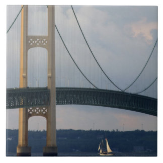 Mackinac Bridge, Michigan, USA Tile