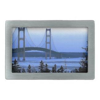 Mackinac Bridge Rectangular Belt Buckles