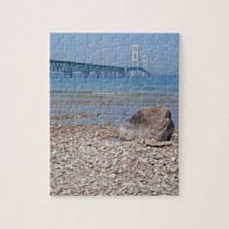 Mackinac Bridge With Rock Puzzle