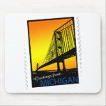 Mackinac Brige Greetings from Michigan! Mouse Pads