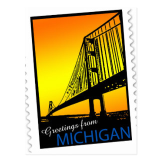 Mackinac Brige Greetings from Michigan! Postcard