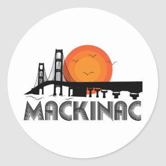 Mackinac Classic Round Sticker