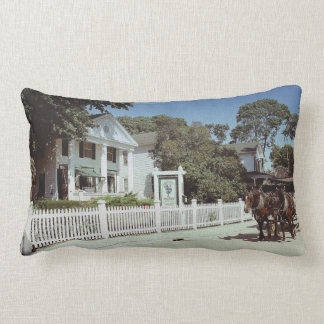 Mackinac Horses on Canvas Lumbar Pillow