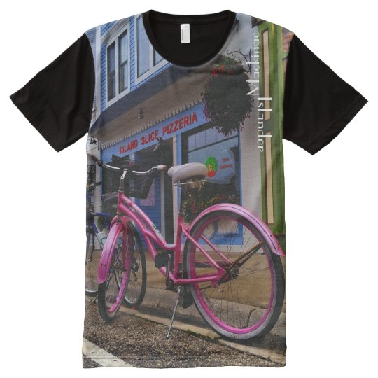 Mackinac Islander Pizza Bike All-Over-Print T-Shirt
