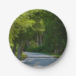 Mackinac Lake Shore Drive Paper Plate