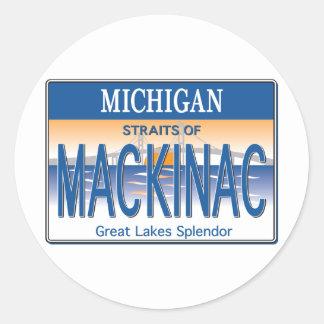 Mackinac License Classic Round Sticker