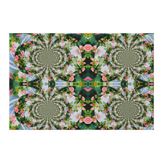 Mackinac rose Mandala Canvas Print