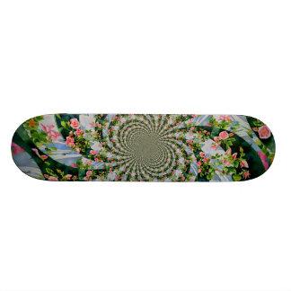Mackinac Rose mandala Skate Board