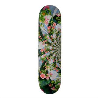 Mackinac Rose mandala Skate Deck