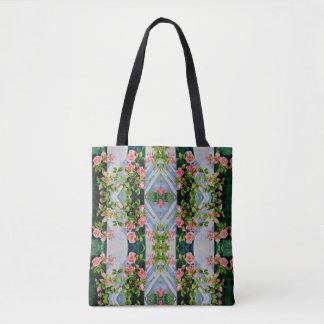 Mackinac Rose Mandala Tote Bag
