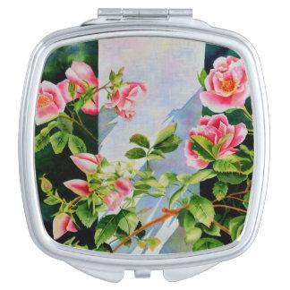 Mackinac Rose Travel Mirror