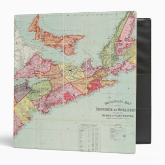 Mackinlay's map of the Province of Nova Scotia 3 Ring Binders