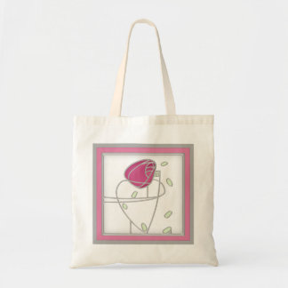 Mackintosh Rose Art Nouveau Flowers in Pink Tote Bag