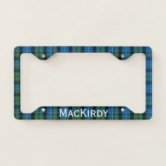 MacKirdy Plaid License Plate Frame