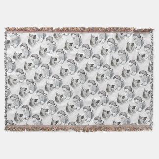 Macksie-and-Santa-LARGE Throw Blanket