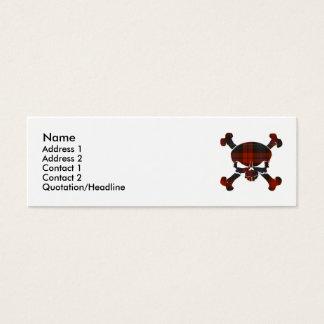 MacLachlan Tartan Skull No Banner Mini Business Card