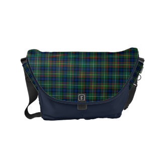 MacLaren Clan Blue and Green Scottish Tartan Messenger Bags