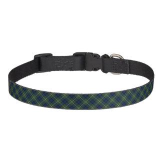 MacLaren Clan Blue and Green Scottish Tartan Pet Collar