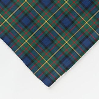 MacLaren Clan Dark Blue, Green and Yellow Tartan Fleece Blanket