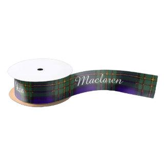 Maclaren clan Plaid Scottish tartan Satin Ribbon