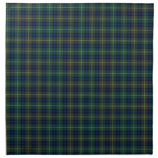 MacLaren Clan Tartan Green and Blue Plaid Cloth Napkins