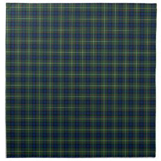 MacLaren Clan Tartan Green and Blue Plaid Napkin