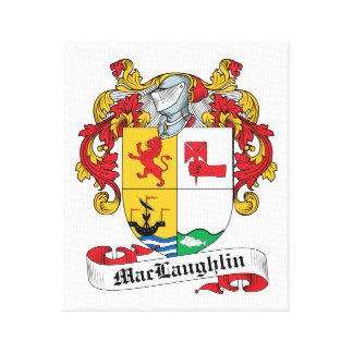 MacLaughlin Family Crest Canvas Print
