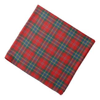 MacLean Clan Tartan Red, Green and Blue Plaid Bandana