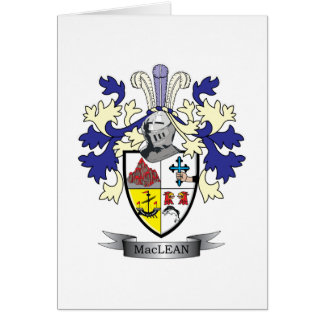 MacLean Family Crest Coat of Arms Card