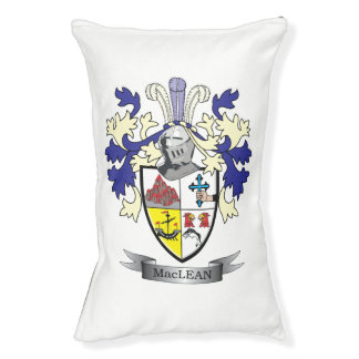 MacLean Family Crest Coat of Arms Pet Bed