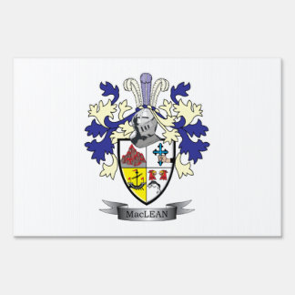 MacLean Family Crest Coat of Arms Sign