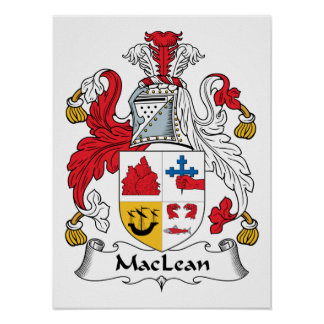 MacLean Family Crest Poster