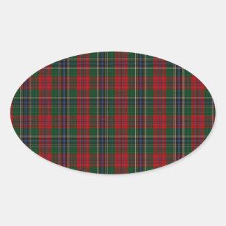 MacLean / McLean Clan Family Tartan Oval Sticker