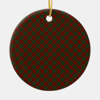 MacLean / McLean Clan Tartan Designed Print Ceramic Ornament