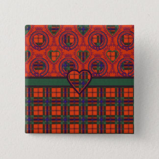 Maclean of Duart Plaid Scottish tartan 2 Inch Square Button