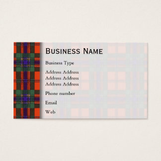 Maclean of Duart Plaid Scottish tartan Business Card