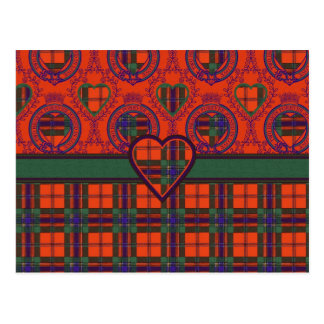 Maclean of Duart Scottish tartan Postcard