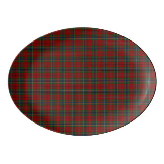 Maclean Tartan Scottish Modern MacLean of Duart Porcelain Serving Platter