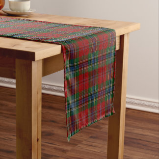 Maclean Tartan Scottish Modern MacLean of Duart Short Table Runner