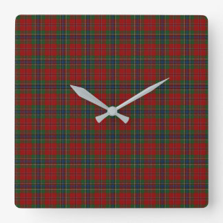 Maclean Tartan Scottish Modern MacLean of Duart Square Wall Clock