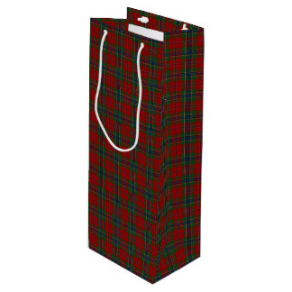 Maclean Tartan Scottish Modern MacLean of Duart Wine Gift Bag