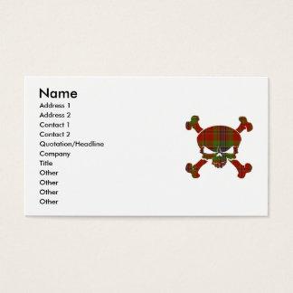 MacLean Tartan Skull No Banner Business Card