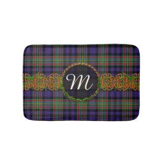 MacLellan Tartan And Monogram Bath Mat