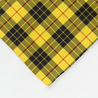 MacLeod Clan Bright Yellow and Black Tartan Fleece Blanket
