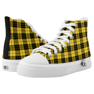 MacLeod Clan Tartan Yellow and Black Plaid Hi-Top