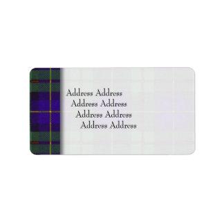 Macleod of Harris clan Plaid Scottish tartan Label