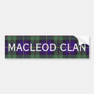 Macleod of Harris Scottish Tartan Bumper Sticker
