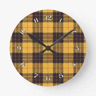 Macleod of Lewis & Ramsay Scottish Tartan Round Clock