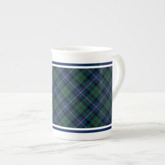 MacLeod of Skye Family Tartan Blue and Green Plaid Tea Cup