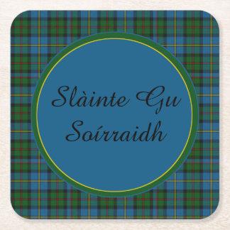 MacLeod Plaid Gaelic Toast Paper Coasters